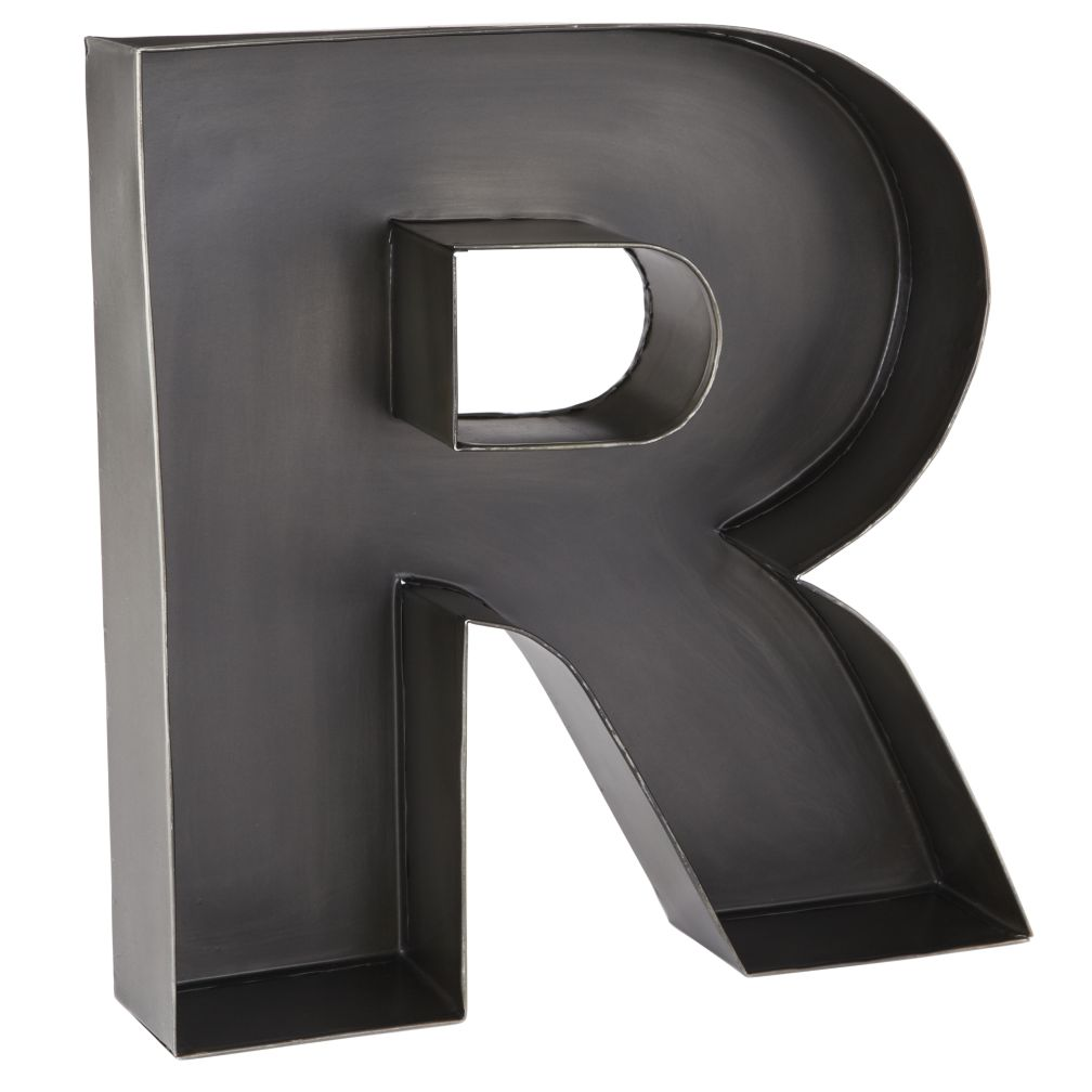 R Magnificent Metal Letter