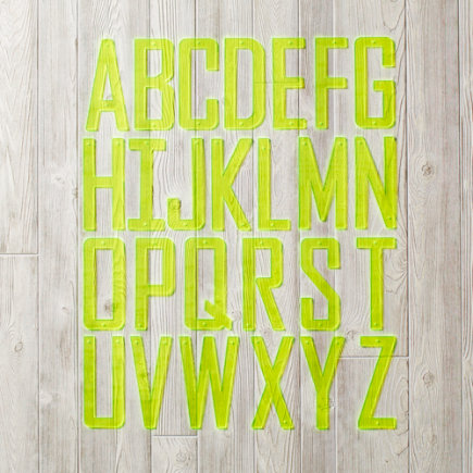 Neon Yellow Acrylic Wall Letters - A Boldface Letter