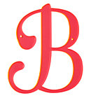 B Neon Calligraphy Letter.