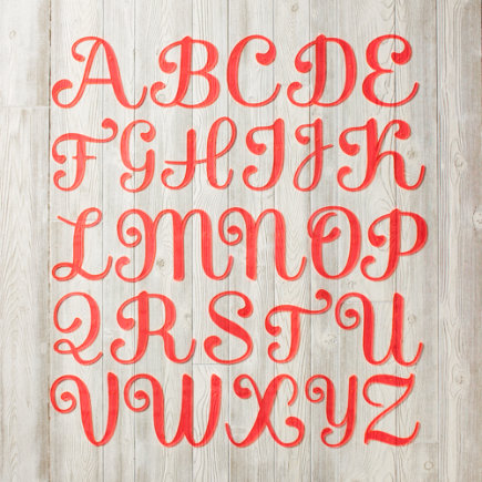 Neon Pink Acrylic Wall Letters - A Neon Calligraphy Letter