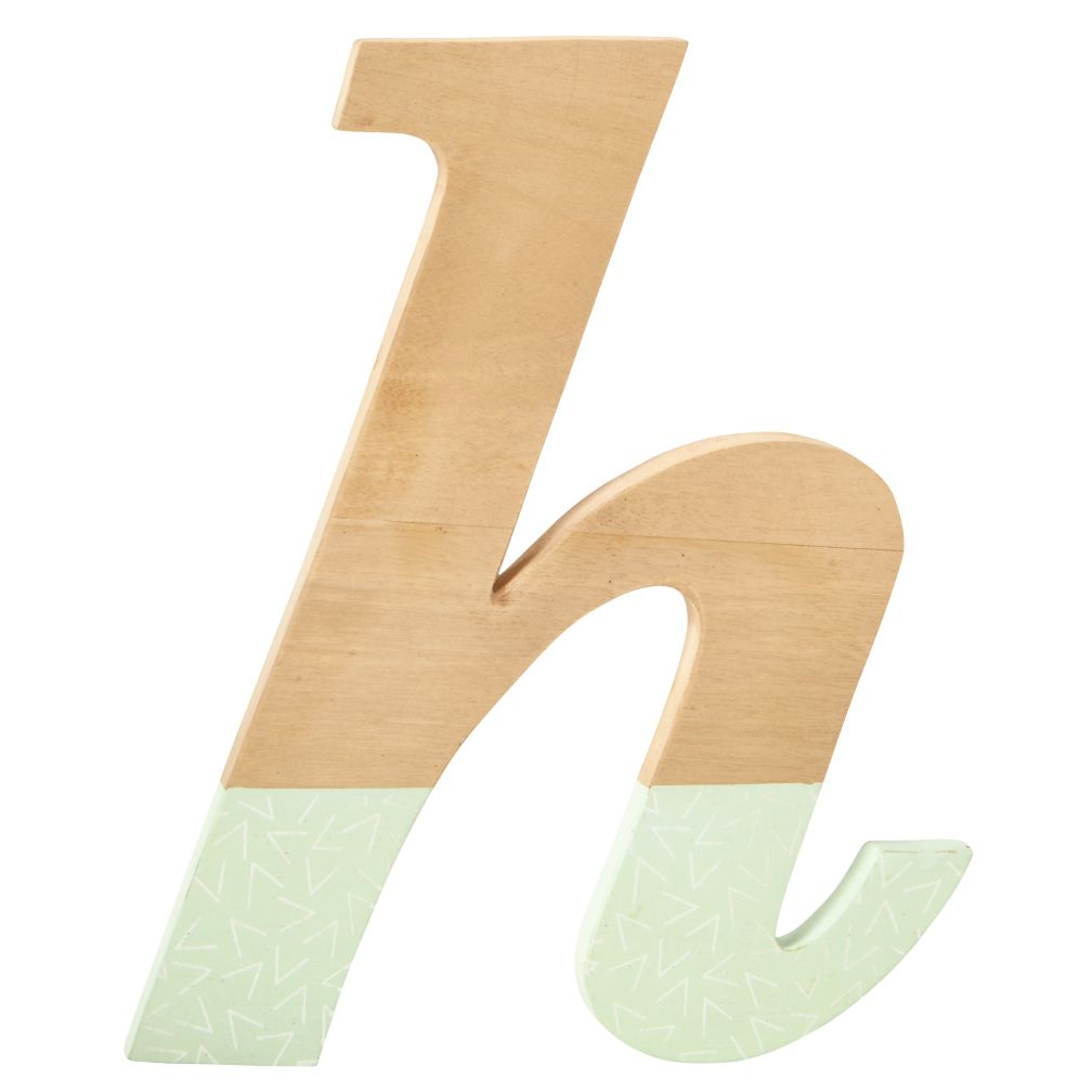 h Pattern Dipped Wall Letter