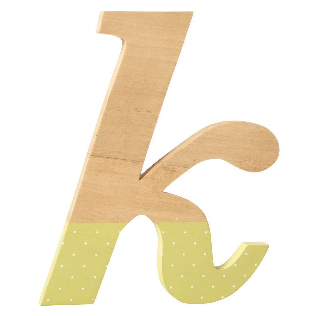 k Pattern Dipped Wall Letter