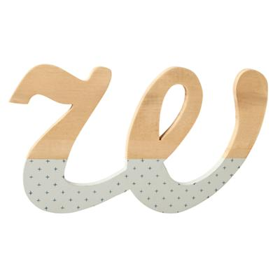 w Pattern Dipped Wall Letter