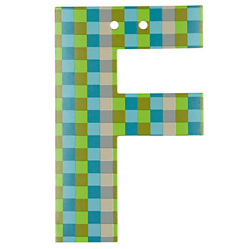'F' Perfect Pattern Boy Letter