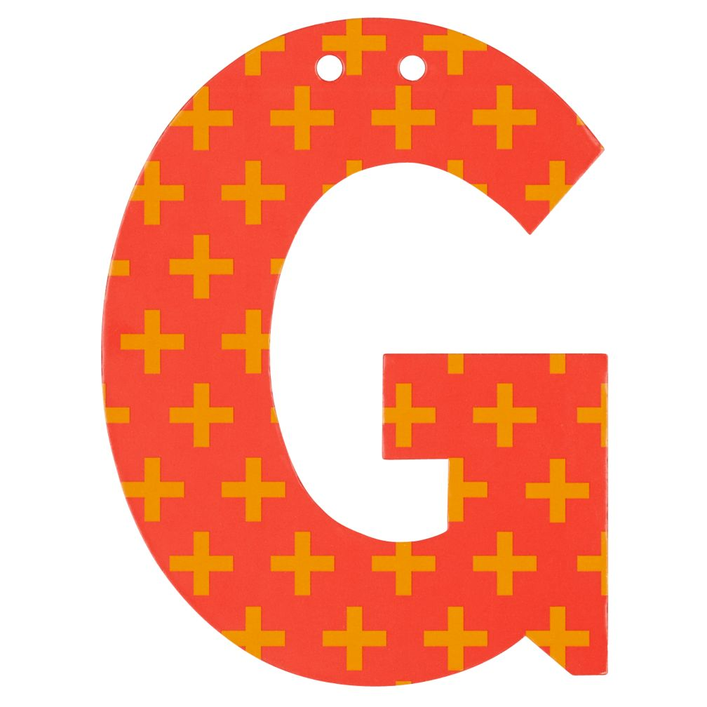 'G' Perfect Pattern Boy Letter
