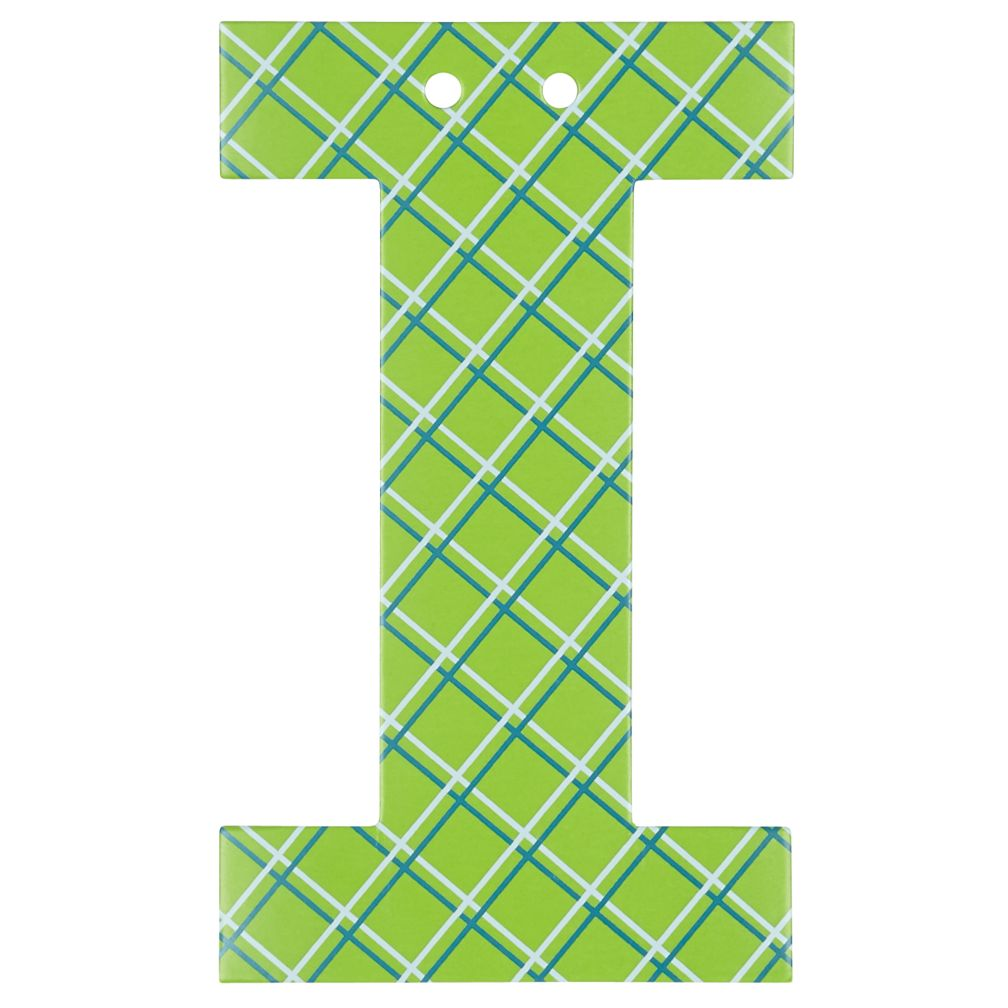 'I' Perfect Pattern Boy Letter