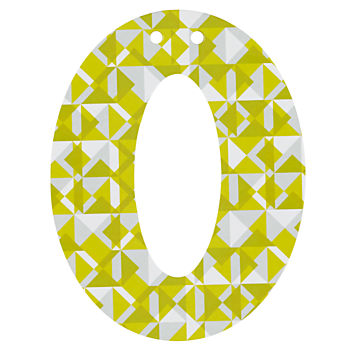 'O' Perfect Pattern Boy Letter
