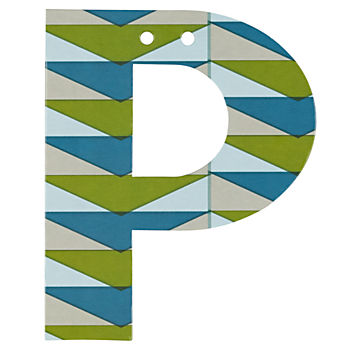 'P' Perfect Pattern Boy Letter