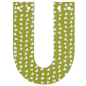 'U' Perfect Pattern Boy Letter