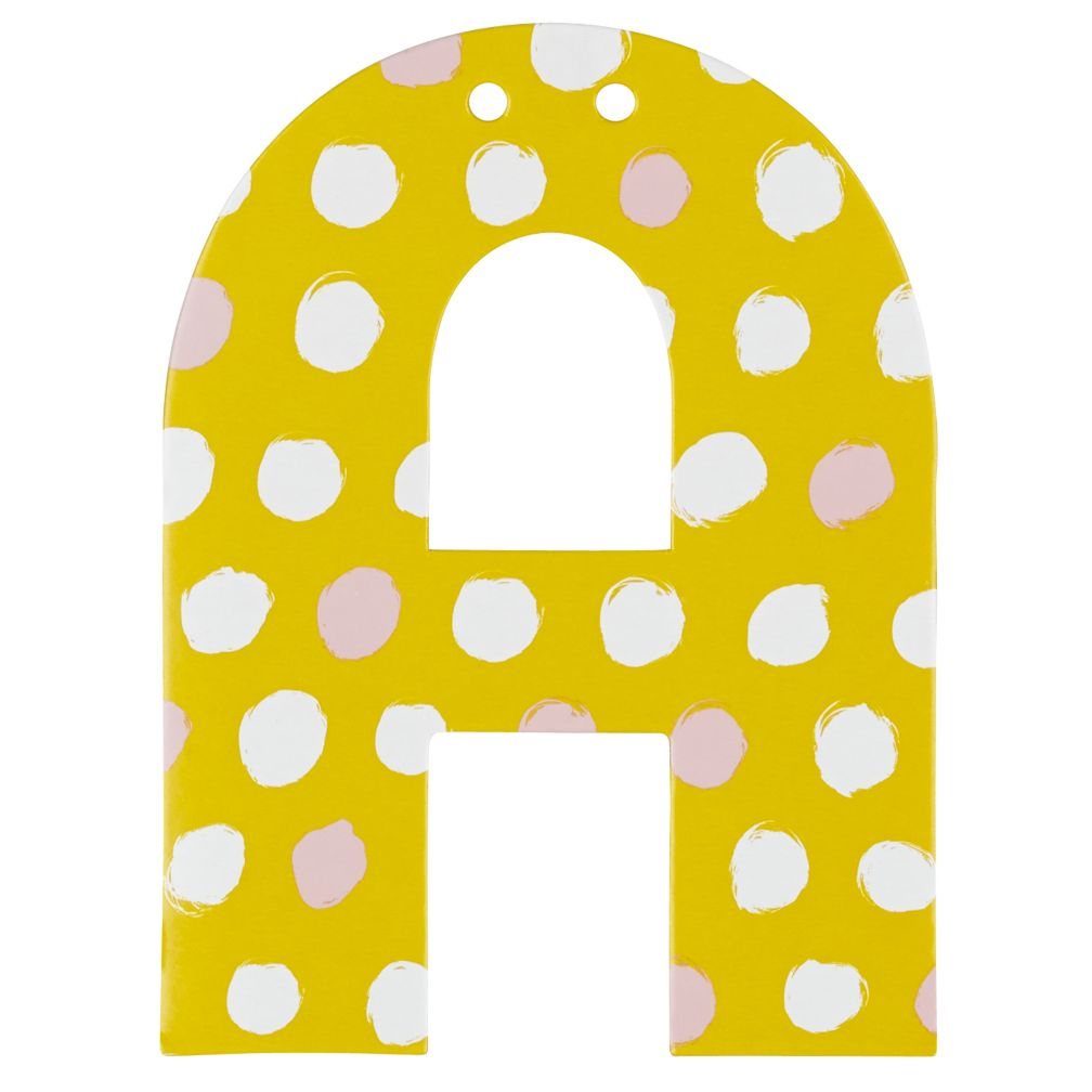 'A' Perfect Pattern Girl Letter
