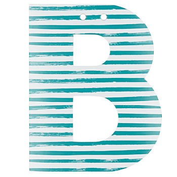'B' Perfect Pattern Girl Letter