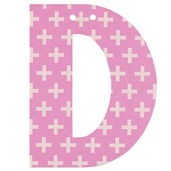 'D' Perfect Pattern Girl Letter
