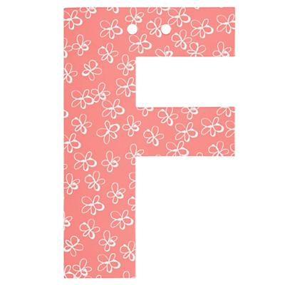 'F' Perfect Pattern Girl Letter