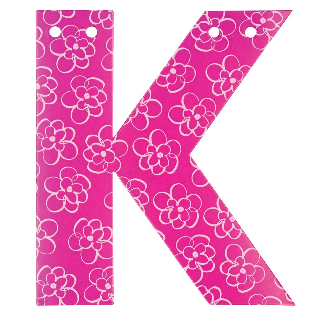 'K' Perfect Pattern Girl Letter