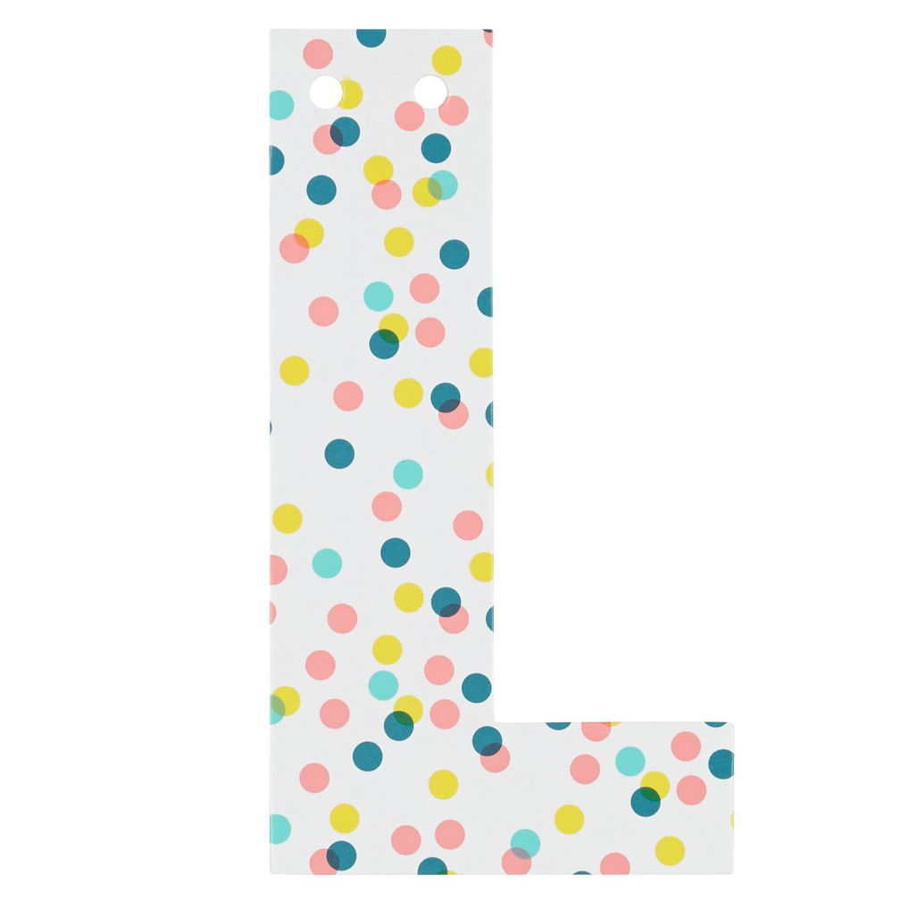 'L' Perfect Pattern Girl Letter