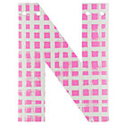 'N' Perfect Pattern Girl Letter