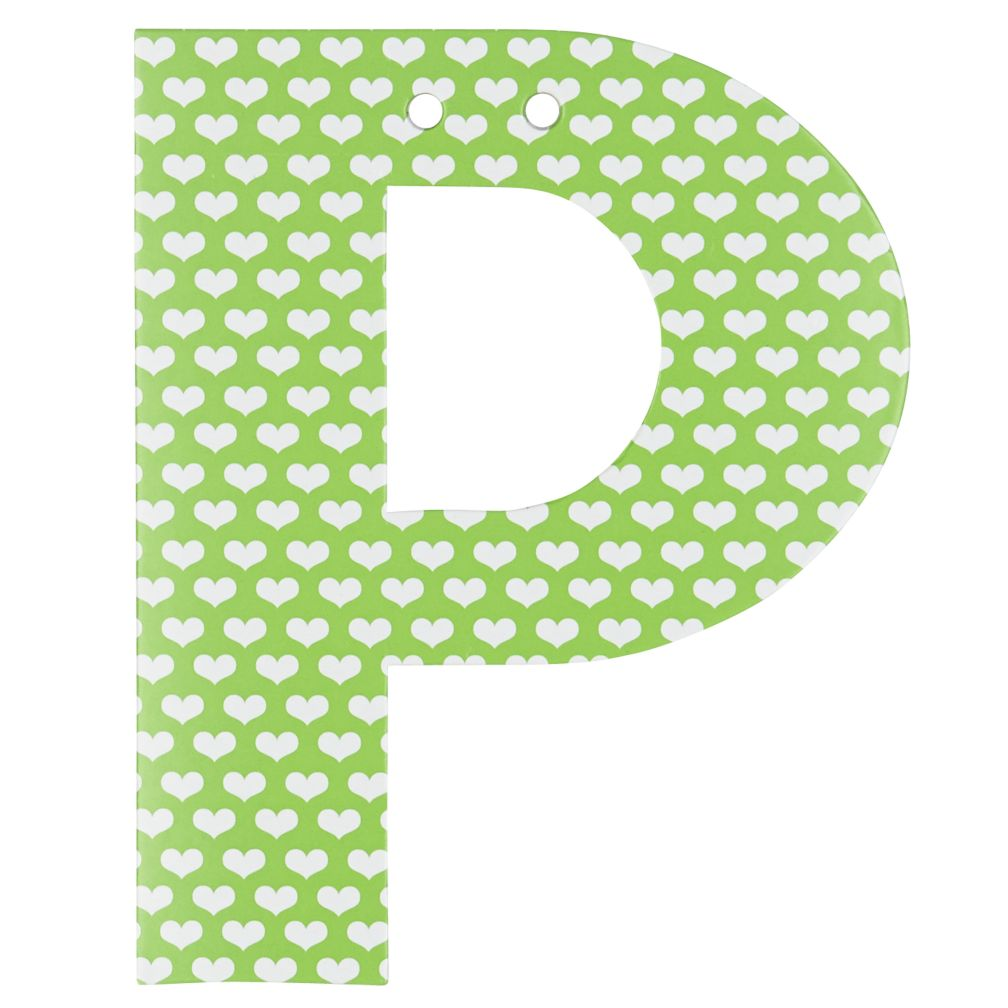 'P' Perfect Pattern Girl Letter