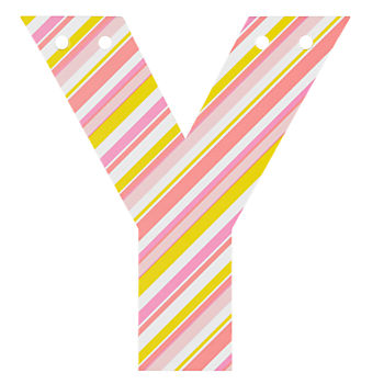 'Y' Perfect Pattern Girl Letter