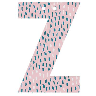 'Z' Perfect Pattern Girl Letter