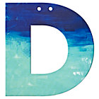 D Watercolor Letter