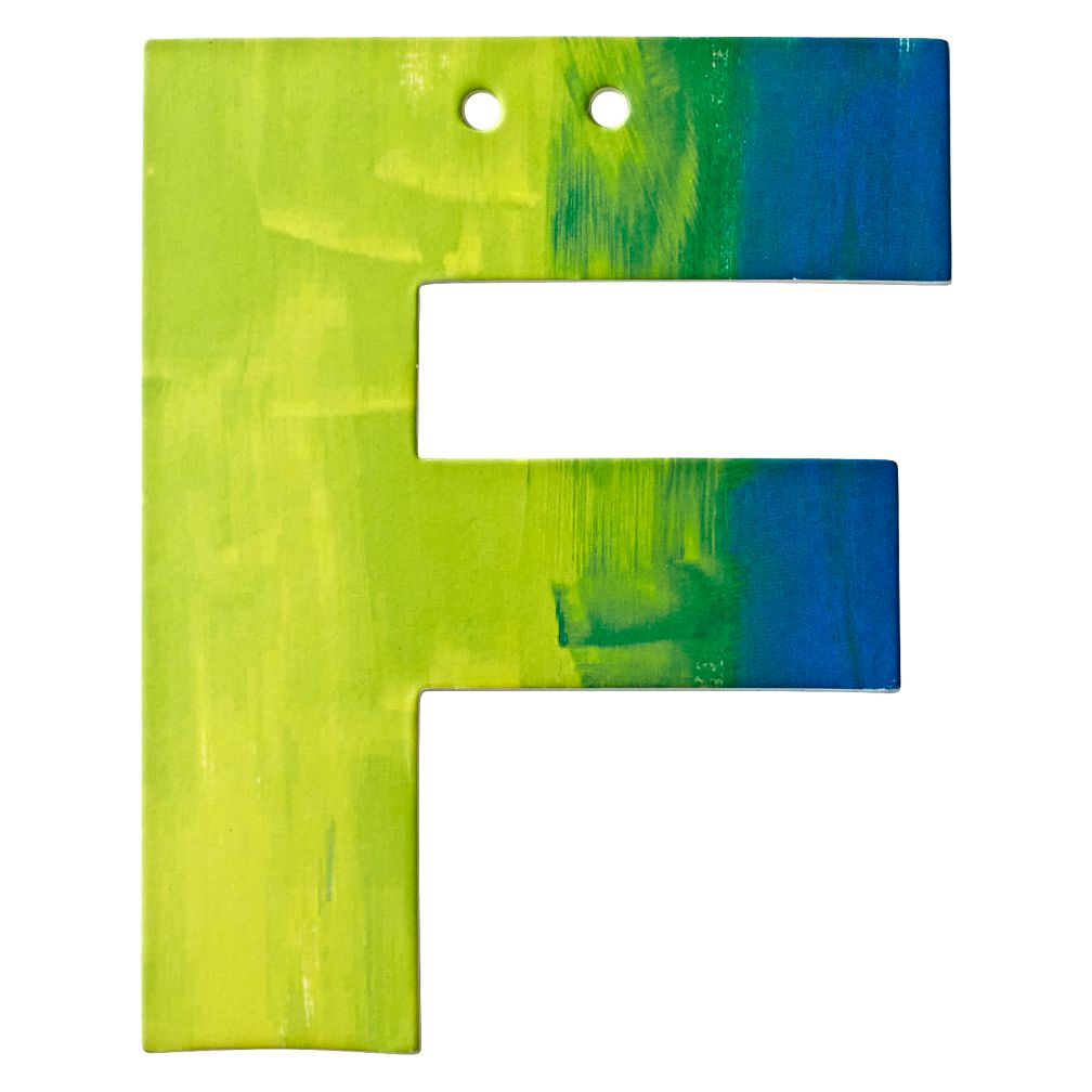 F Watercolor Letter