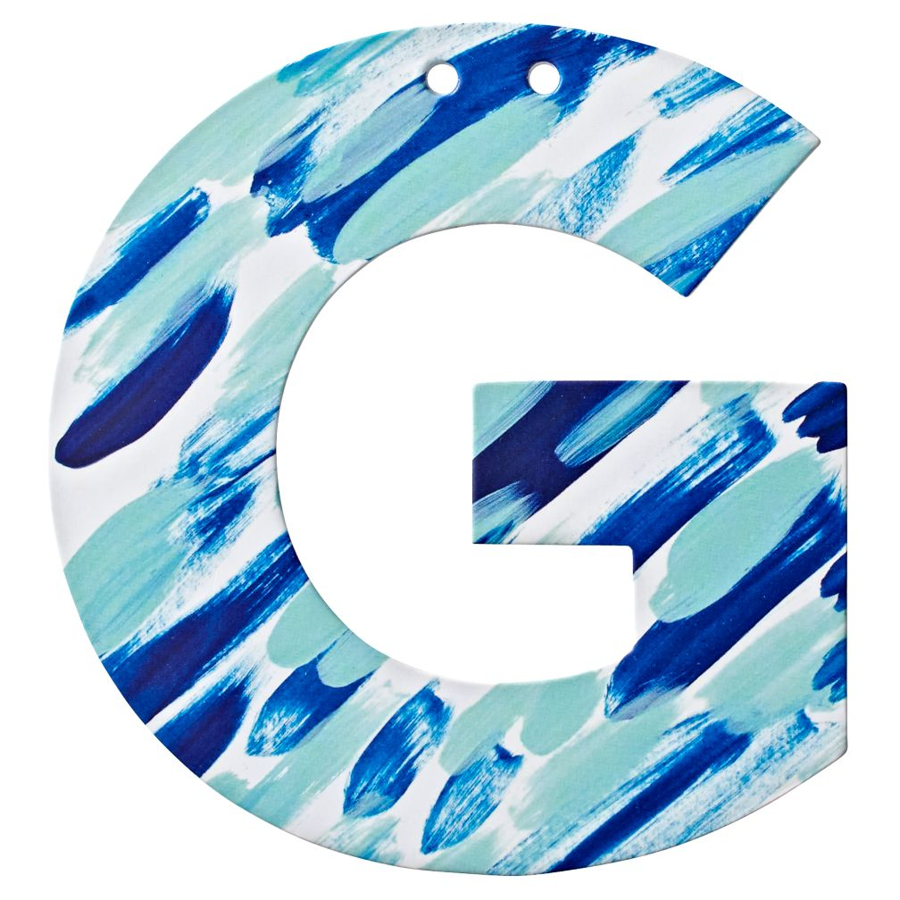 G Watercolor Letter