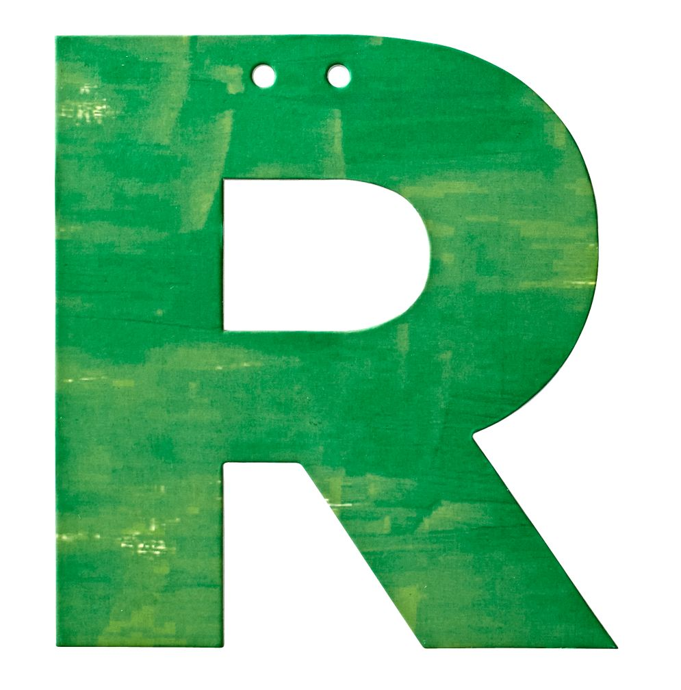 R Watercolor Letter