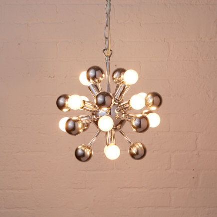 Kids Lighting: Retro Multi-bulb Ceiling Light - Up and Atom Chandelier