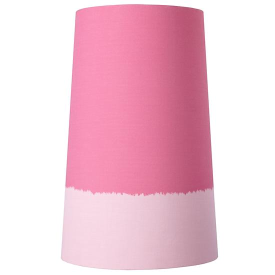 Lighten up floor lamp shade pink the land of nod for Light pink floor lamp shade