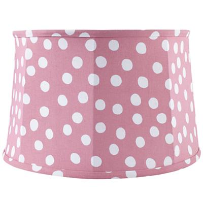 Spots and Dots Floor Lamp Shade (Pink/White)