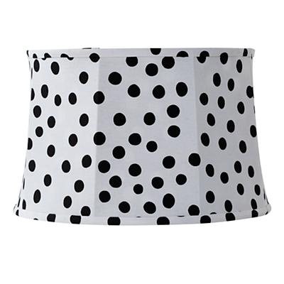 Spots and Dots Floor Lamp Shade (White/Black)