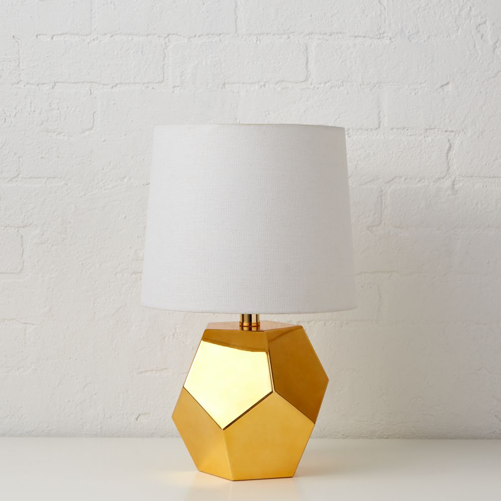 Between a Rock and a Table Lamp Base (Gold)