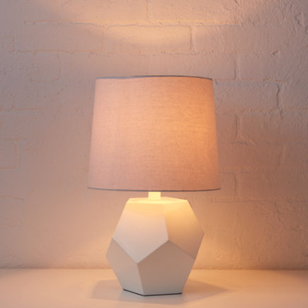 Geometric Table Lamp Base (White) - White Rock Table Lamp Base