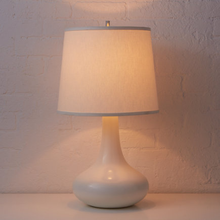 Kids Lighting: Kids Ceramic White Table Lamp - White Eden Table Lamp