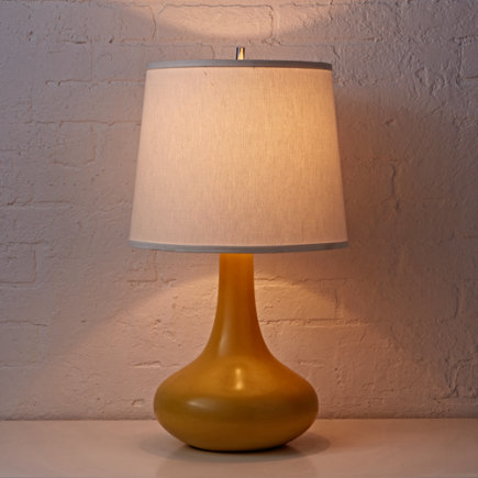 Kids Lighting: Kids Ceramic Yellow Table Lamp - Yellow Eden Table Lamp