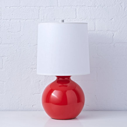 Kids Lighting: Kids Red Gumball Table Lamps - Red Gumball Lamp