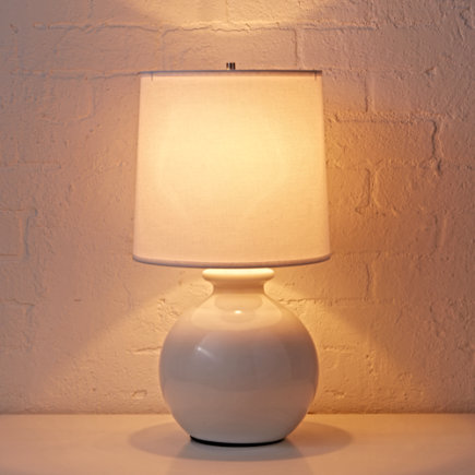 Kids Lighting: Kids White Gumball Table Lamps - White Gumball Table Lamp