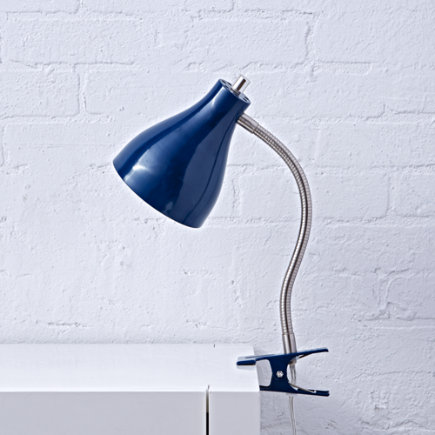 Blue Hold On Clip Lamp
