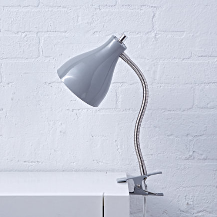 Grey Hold On Clip Lamp