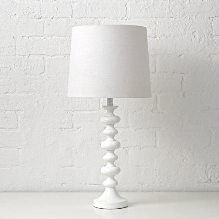 White Jenny Lind Table Lamp