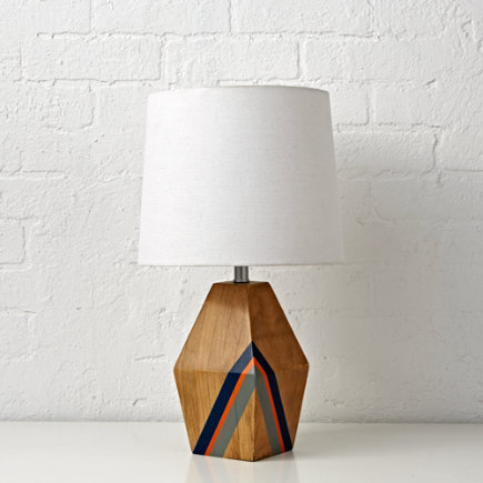Natural Color Table Lamp (Blue) - Blue Natural Color Table Lamp Base
