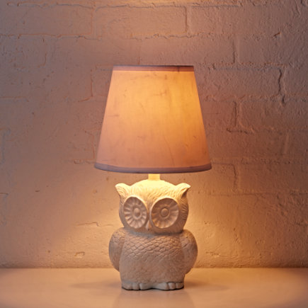 Owl Table Lamp (White) - Nocturnal Owl Lamp