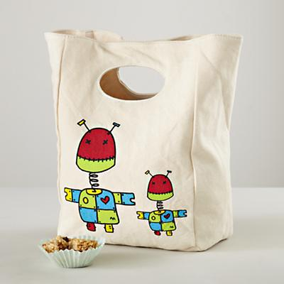 Carried Away Robot Lunch Bag