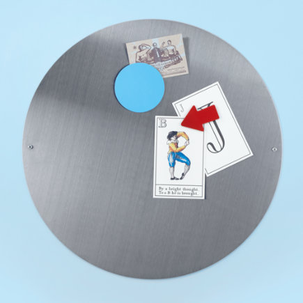 Kids Bulletin Boards: Kids Stainless Steel Circle Magnet Board - 16 Silver Circle Magnet Board