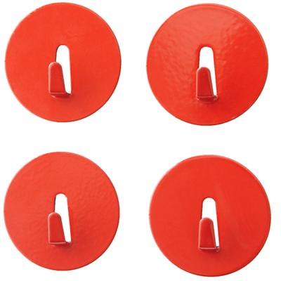 Red Mini Magnet Hooks (Set of 4)