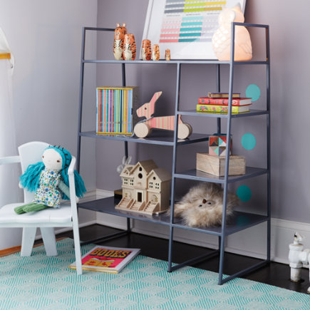 Grey Metalwork Bookcase