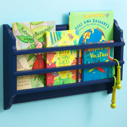 Blue Wall Book Bin - Wall Book Bin (Midnight Blue)  25 x 4