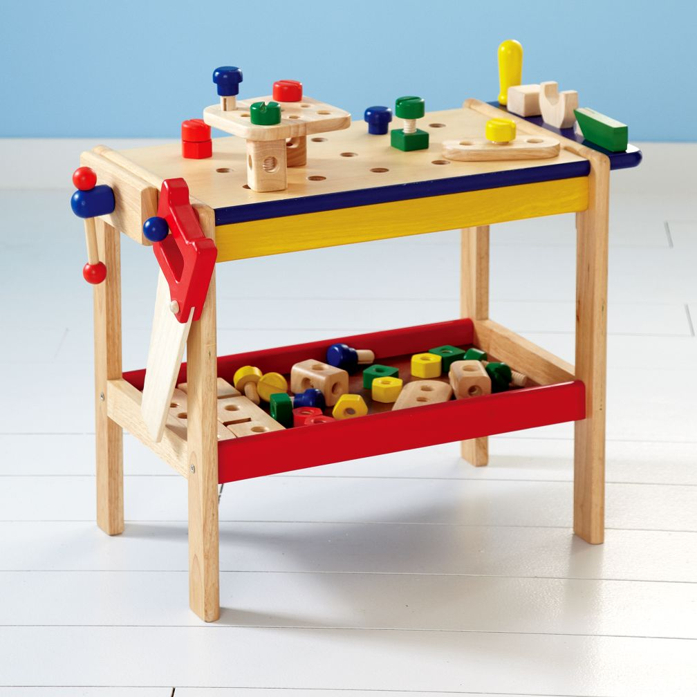 Kids' Imaginary Play: Kids Toy Workbench & Tools :  land of nod customer favorites if i had a hammer and a workbench if i had a hammer and a workbench toys games