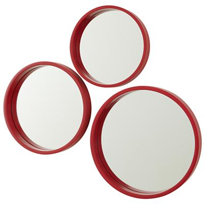 Ahoy There Red Mirrors (Set of 3)