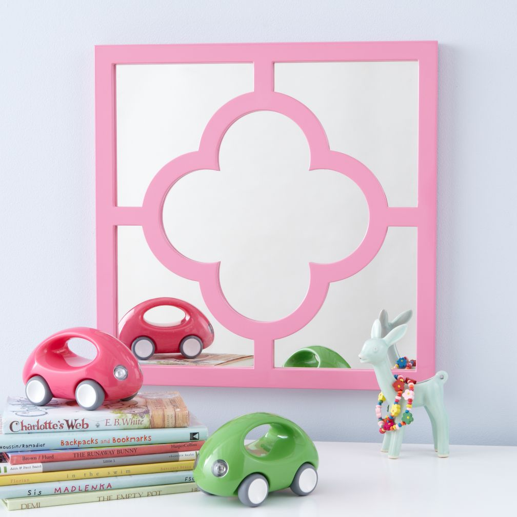 The Land of Nod - Pink My Lucky Four-Leaf Mirror